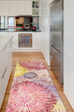 Machine Washable 2.5'x7' Chrysanthemum Brights Rug Rug