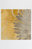 Machine Washable 2.5'x7' Chrysanthemum Yellow Rug Rug