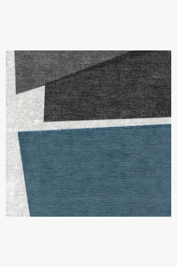 Machine Washable 5'x7' Color Field in Blue Rug
