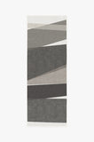 Machine Washable 2.5'x7' Color Field in Greyscale Rug Rug