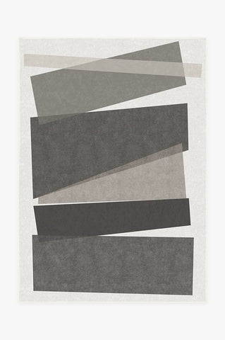 Solid Tonal Light Grey Rug