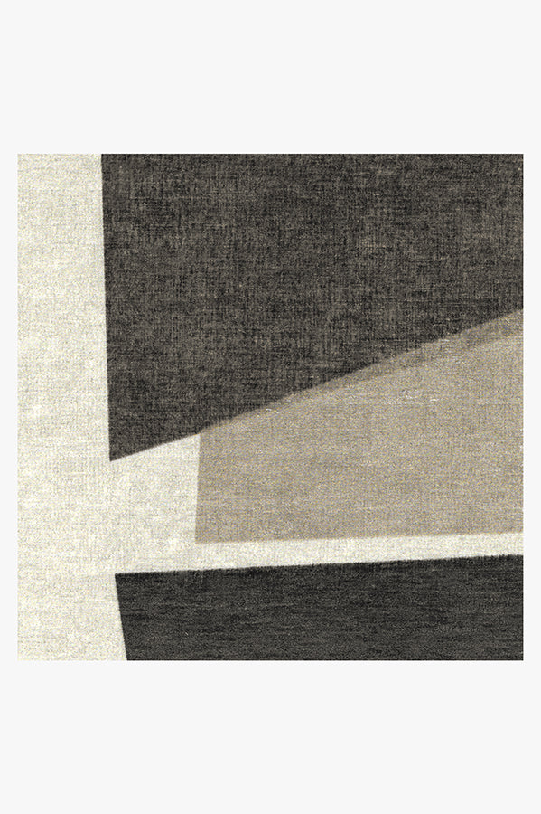Machine Washable 2.5'x7' Color Field in Greyscale Rug