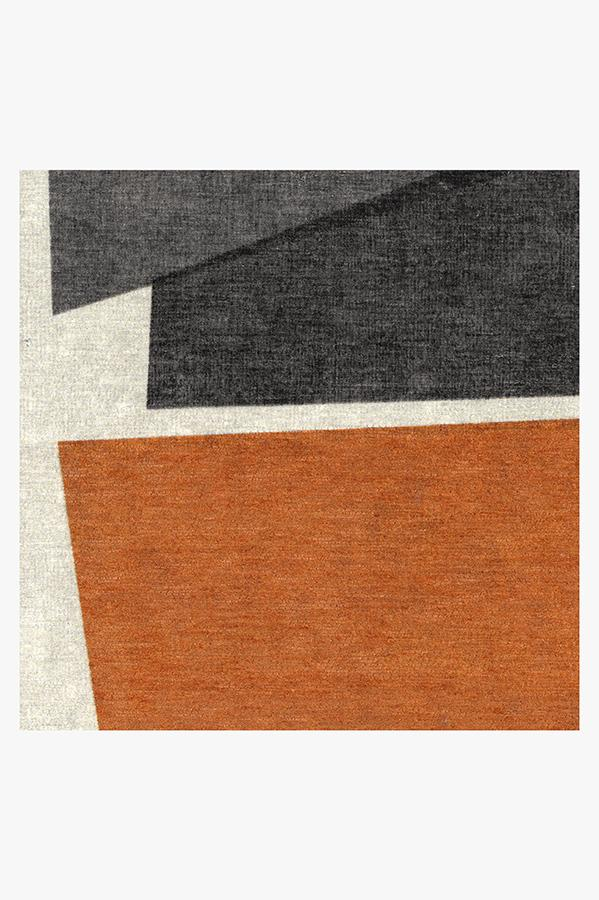 Machine Washable 2.5'x7' Color Field in Orange Rug