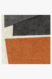 Machine Washable 2.5'x7' Color Field in Orange Rug Rug