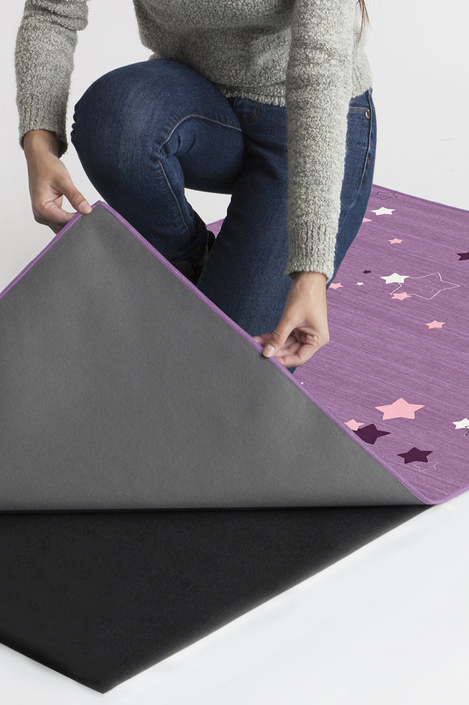 Machine Washable 2.5'x7' Constellation Lavender Rug