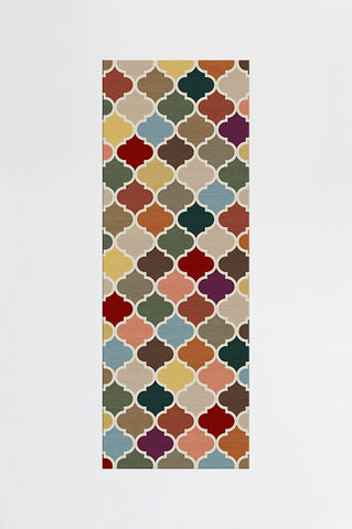 CONTEMPORARY TRELLIS AUTUMN MULTICOLOR