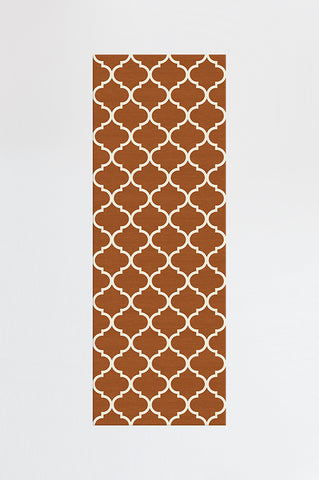 CONTEMPORARY TRELLIS RUST ORANGE