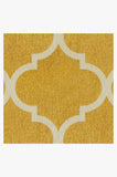Machine Washable 2.5'x7' Contemporary Trellis Yellow Rug Rug