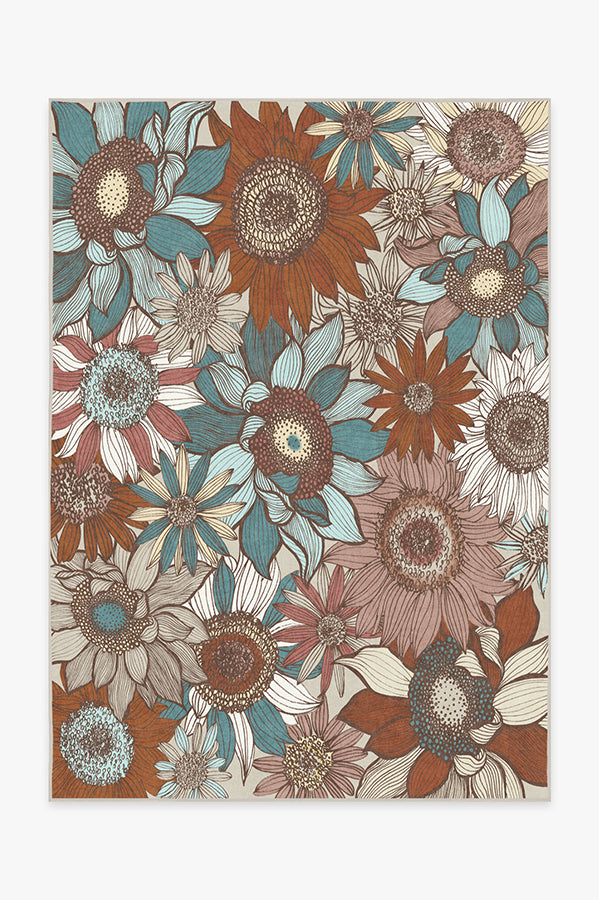 Machine Washable 5'x7' Dalilah Rosewood Rug