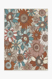 Machine Washable 5'x7' Dalilah Rosewood Rug Rug