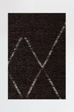 Machine Washable 2.5'x7' Diamond Dalia Black Rug Rug