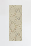 Machine Washable 2.5'x7' Diamond Dalia Natural Multicolor Rug Rug