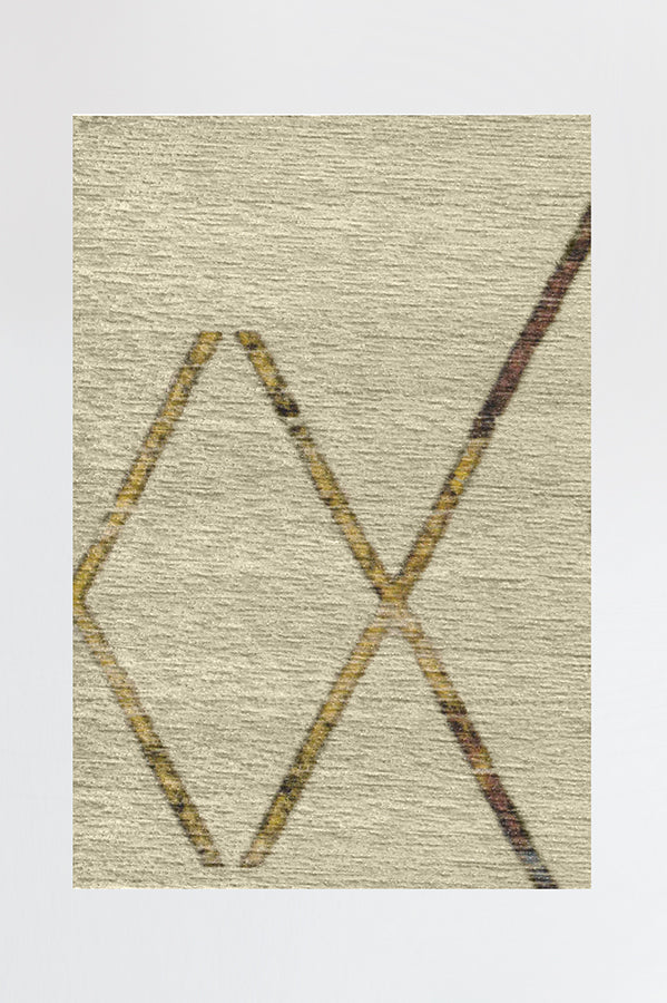 Machine Washable 2.5'x7' Diamond Dalia Natural Multicolor Rug