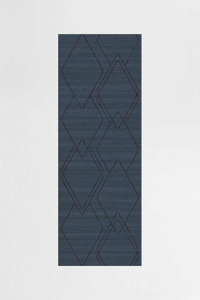 Machine Washable 2.5'x7' Diamond Dalia Slate Blue Rug