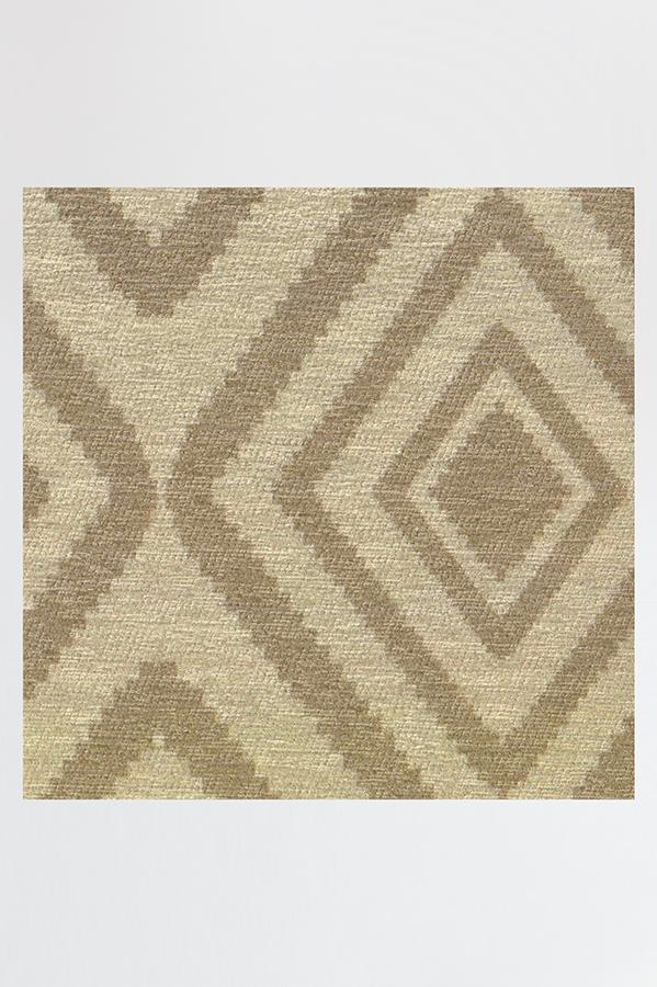 Machine Washable 2.5'x7' Diamond Natural Rug