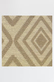 Machine Washable 2.5'x7' Diamond Natural Rug Rug