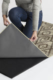 Machine Washable 2.5'x7' Diamond Trellis Neutral Rug Rug
