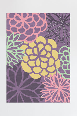 Floral Damask Mimi Purple