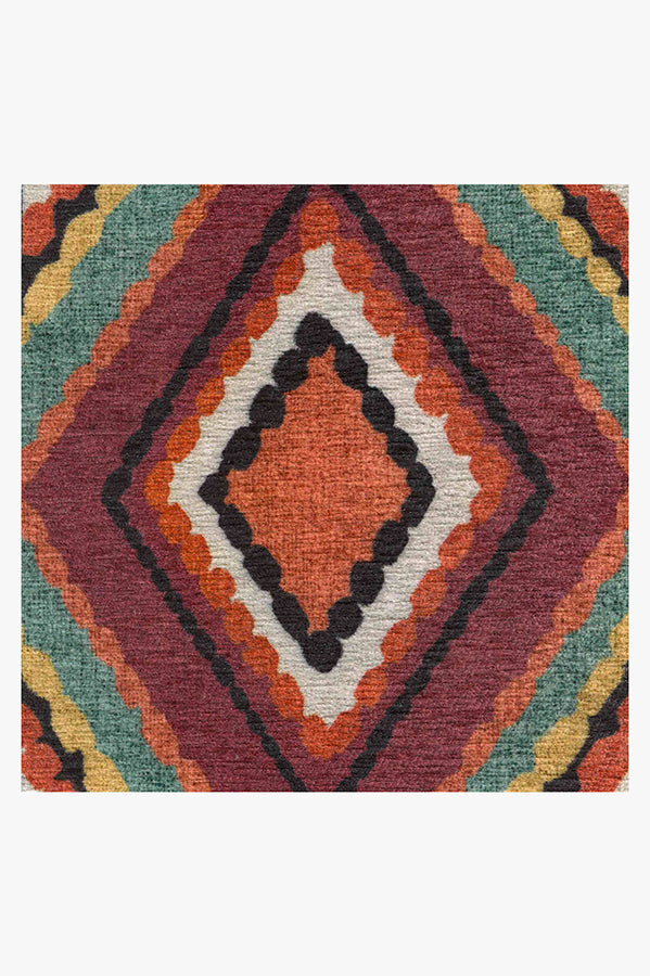 Machine Washable 5'x7' Esra Polychrome Rug