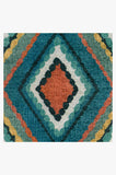 Machine Washable 2.5'x7' Esra Teal Rug Rug
