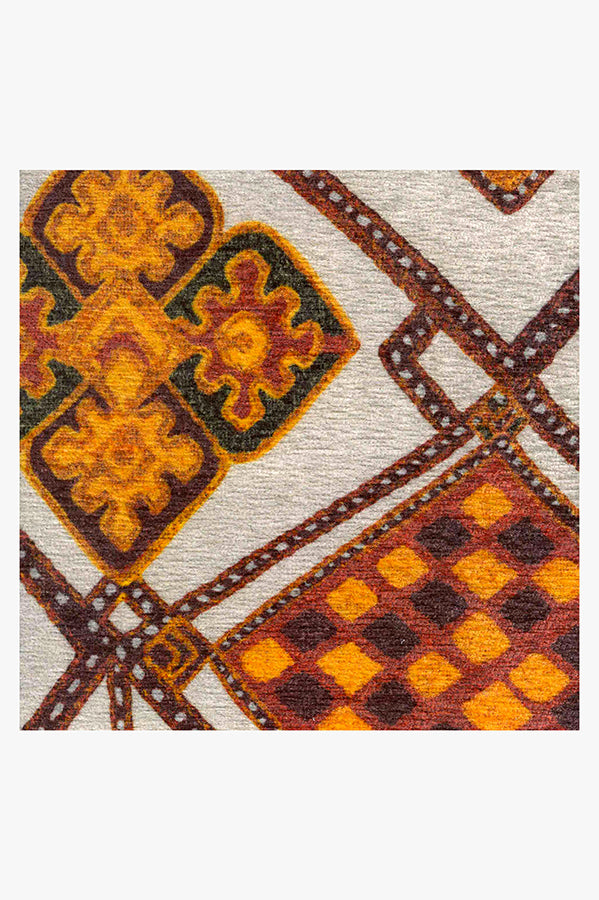 Machine Washable 5'x7' Farah Autumn Rug