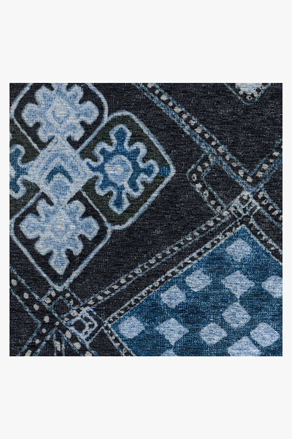 Machine Washable 2.5'x7' Farah Midnight Rug