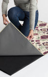 Machine Washable 2.5'x7' Floral Damask Mimi Purple Rug Rug