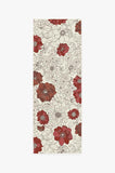 Machine Washable 2.5'x7' Floret Ruby Rug Rug