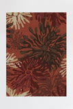 Machine Washable 5'x7' Genevieve Floral Brick Red Rug Rug