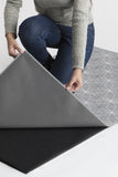 Machine Washable 5'x7' Geometrix Grey Rug Rug