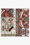 Machine Washable 5'x7' Hendesi Heriz Garnet Rug Rug
