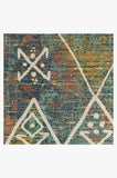 Machine Washable 2.5'x7' Kavi Diamond Polychrome Rug Rug