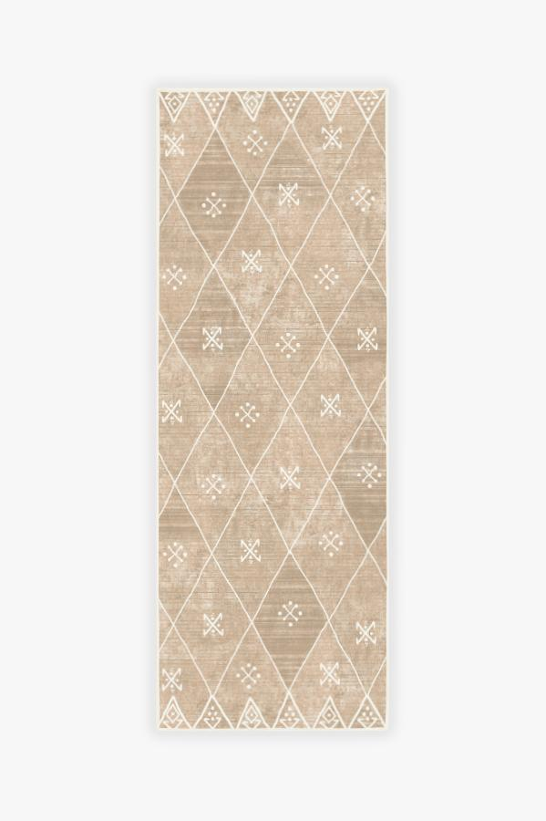 Machine Washable 2.5'x7' Kavi Diamond Rose Gold Rug