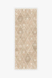 Machine Washable 2.5'x7' Kavi Diamond Rose Gold Rug Rug