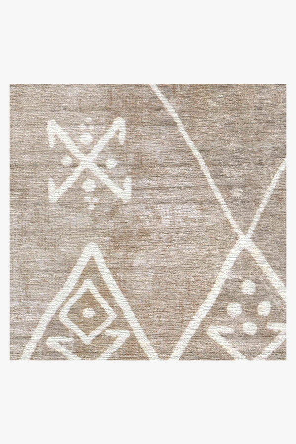 Machine Washable 2.5'x7' Kavi Diamond Silver Rug