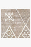 Machine Washable 2.5'x7' Kavi Diamond Silver Rug Rug