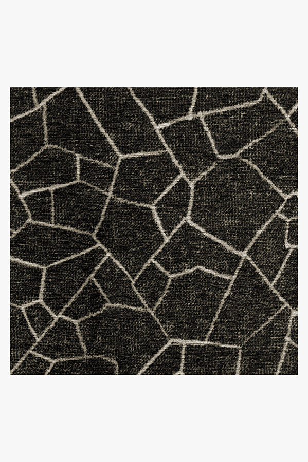 Machine Washable 5'x7' Kella Black Rug