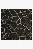 Machine Washable 2.5'x7' Kella Black Rug Rug