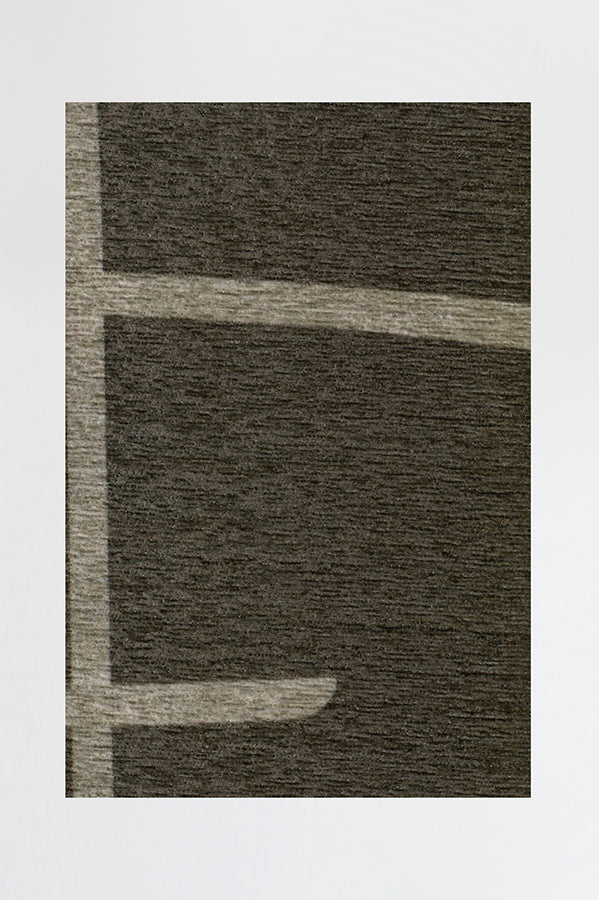 Machine Washable 5'x7' Lines Ash Brown Rug