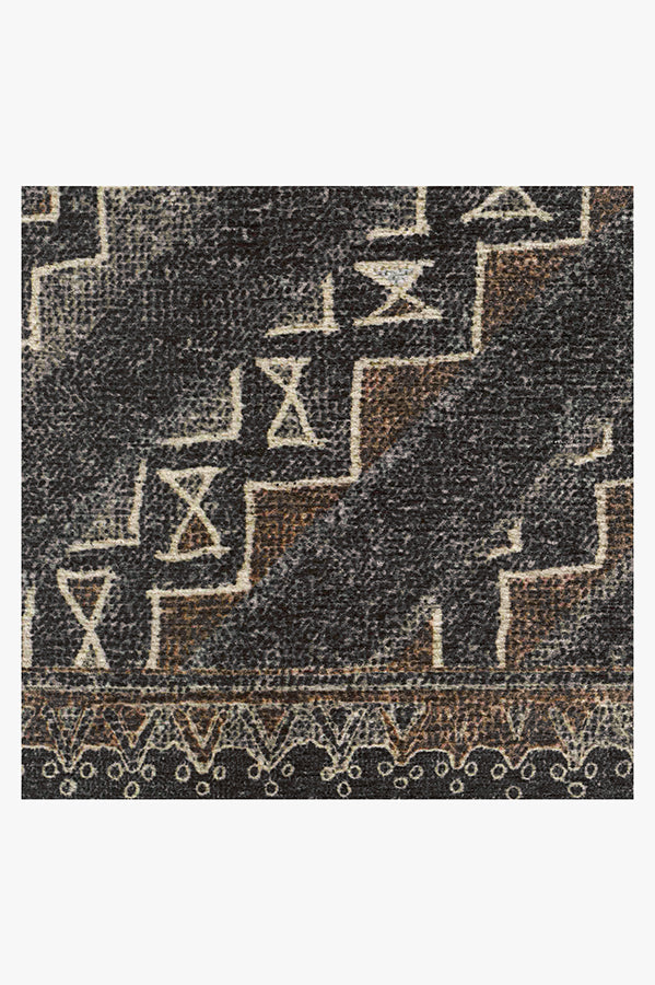 Machine Washable 5'x7' Lunja Lava Rock Rug