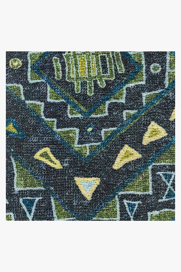 Machine Washable 2.5'x7' Lunja Midnight Rug