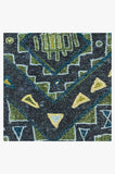 Machine Washable 2.5'x7' Lunja Midnight Rug Rug