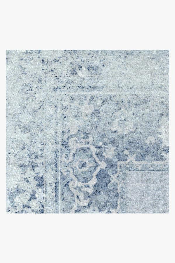Machine Washable 2.5'x7' Maral Border Blue Rug
