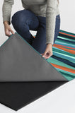 Machine Washable 2.5'x7' Meridian Turquoise Rug Rug