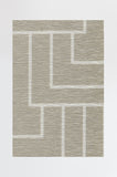 Machine Washable 2.5'x7' Modern Deco Neutral Rug Rug