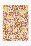 Machine Washable 5'x7' Oleander Starburst Rug Rug