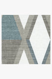 Machine Washable 2.5'x7' Pico Diamond Teal Rug Rug