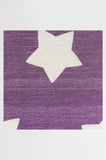 Machine Washable 2.5'x7' Polka Star Lavender Rug Rug