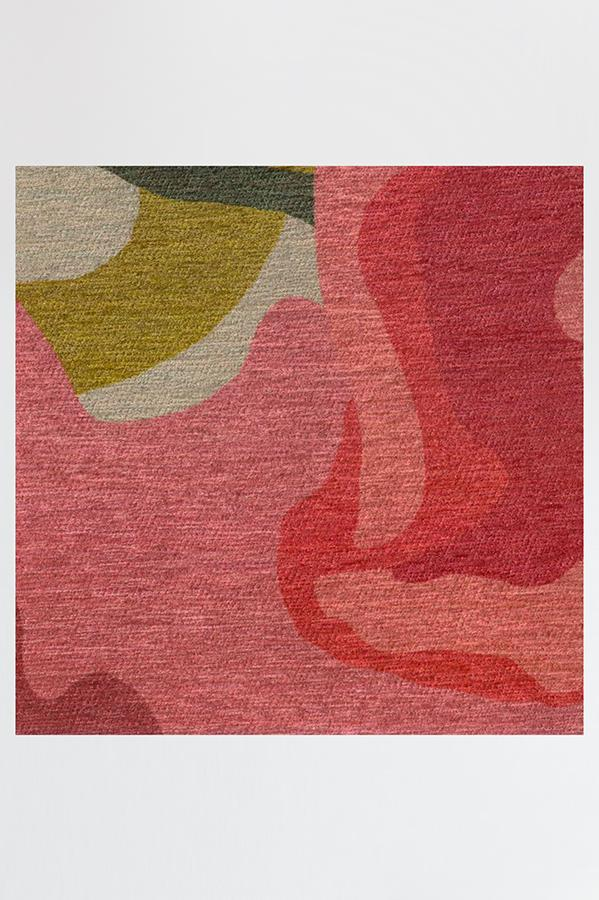 Machine Washable 2.5'x7' Poppy Floral Brights Rug
