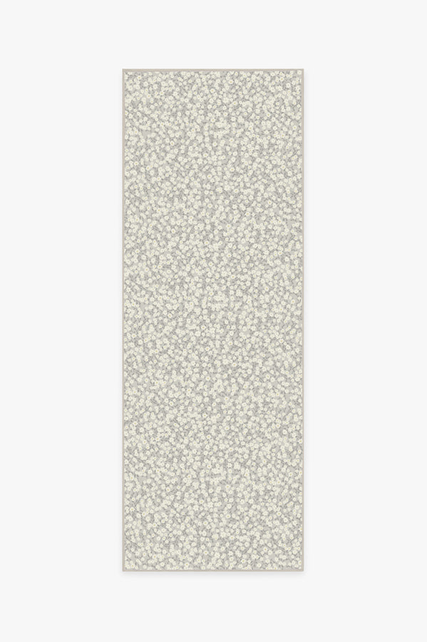 Machine Washable 2.5'x7' Posy Grey Rug